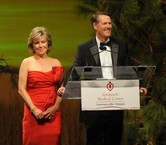 Clayton and Julia Davis, 2012 co-chairs of the Gwinnett Medical Center Cornerstone Society Gala